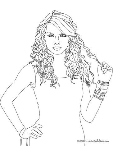 Desenhos Para Colorir De Desenho Para Colorir Cantora Da Taylor