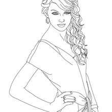 Desenho para colorir cantora da Taylor Swift