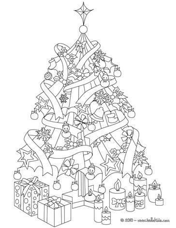 Desenhos Para Colorir De Desenho De Uma Arvore De Natal Brilhante