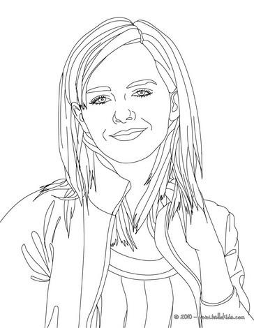 Desenhos Para Colorir De Retrato Para Colorir Da Emma