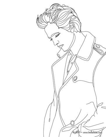 desenhos para colorir de retrato do robert pattinson para colorir