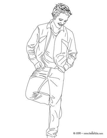 desenhos para colorir de desenho do robert pattinson feliz para