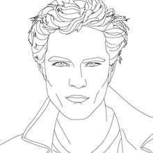 Desenho do retrato Robert Pattinson  para colorir