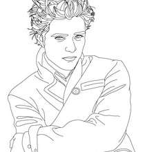 Desenho do Robert Pattinson posando para colorir