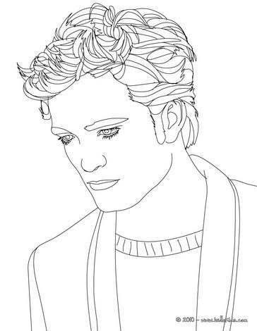 desenhos para colorir de desenho do lindo robert pattinson de terno