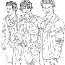 desenhos para colorir de desenho do grupo jonas brothers para