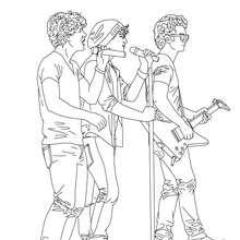 desenhos para colorir de desenho dos jonas brothers cantando para