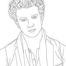 desenhos para colorir de desenho do kevin jonas com uma gravata