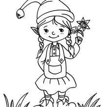 Desenho de Duendes do Natal para colorir
