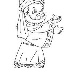 Desenho do Gaspar em pé para colorir