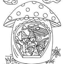Desenho da casa dos Duendes do Papai Noel para colorir