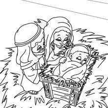 Desenho da familia abençoada para colorir