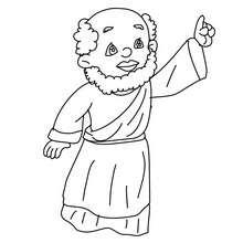 Desenho do Baltasar em pé para colorir