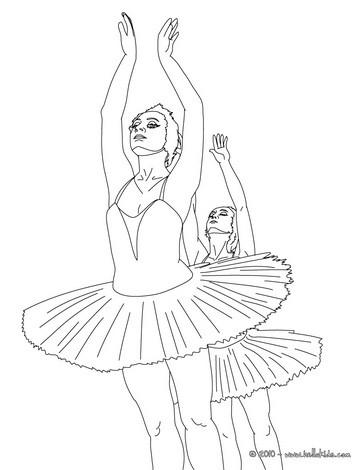 Desenhos Para Colorir De Desenho De Bailarinas Dançando Para