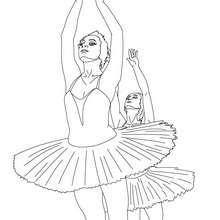 Desenho de lindas bailarinas para colorir