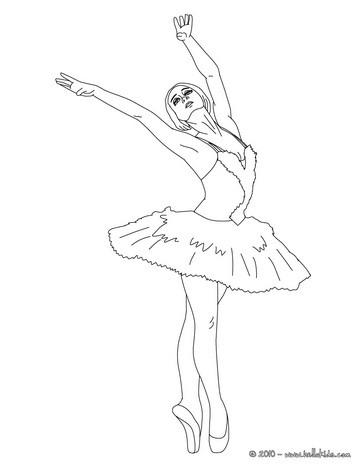 Desenho de uma linda bailarina para colorir