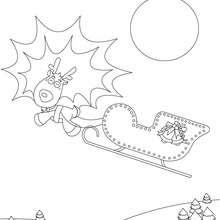 Desenho das Renas Cometa e Corredora para colorir