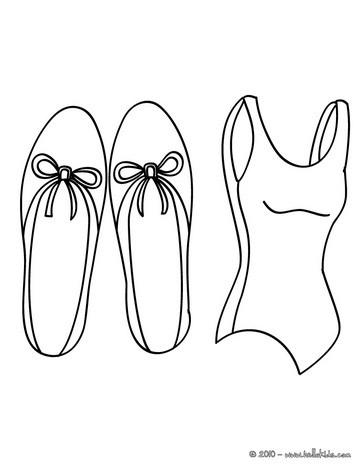 A roupa da Bailarina para colorir