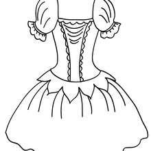 Desenho para colorir de um tutu para dançarinas de balé clássico