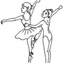 Desenho de uma aula de balé para colorir