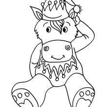 SDesenho para colorir de um burro sentado no Natal