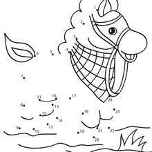 Jogo de ligar os pontos - Cavalo