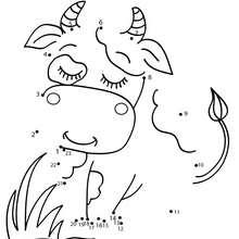Jogo de ligar os pontos - Vaca