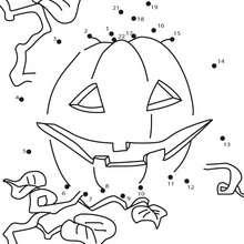 Jogo de ligar os pontos - Abóbora do Dia das Bruxas