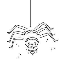 Jogo de ligar os pontos - Aranha do Dia das Bruxas