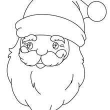 Retrato do São Nicolau de Mira, o Papai Noel para colorir