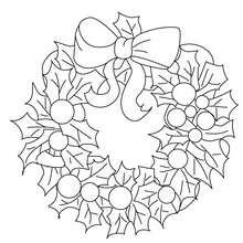 Desenho de uma guirlanda de Natal para colorir
