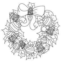 Desenho para colorir de uma coroa de Natal