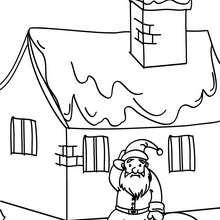 Desenho do Papai Noel depois de um tombo para colorir
