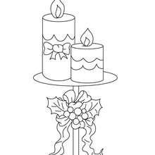 Desenho de velas para o Natal para colorir
