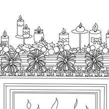 Desenho de enfeites de Natal para colorir