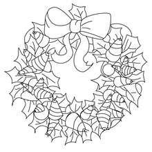 Desenho de uma linda guirlanda de Natal para colorir