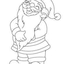 Desenho do Papai Noel rindo para colorir