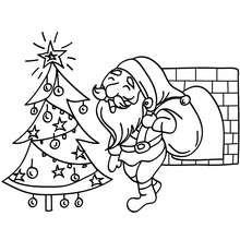 Desenho do Papai Noel feliz para colorir