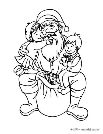 Desenhos Para Colorir De Desenho Do Papai Noel Com O Rodolfo