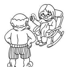 Desenho do Papai Noel com a Mamãe Noel colorir