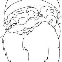 Retrato do Papai Noel feliz para colorir