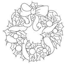 Desenho de uma linda coroa de Natal para colorir