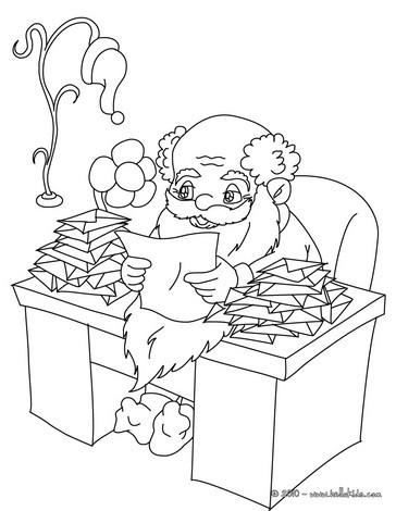 Desenhos Para Colorir De Desenho Para Colorir Do Papai Noel Lendo