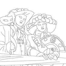 Desenho do Carnaval de Veneza para colorir