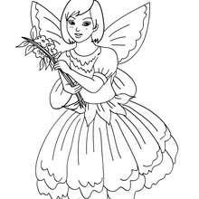 Desenho para colorir de uma fantasia de FADA para crianças no CARNAVAL