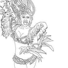 Desenho do desfile das escolas de samba no sambódromo  para colorir