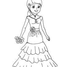Desenho para colorir de uma fantasia de CORTESÃ