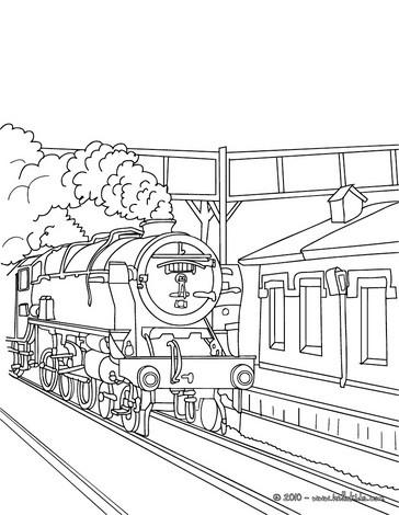 Desenhos Para Colorir De Desenho Para Colorir De Um Trem A Vapor