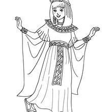Desenho para colorir de uma fantasia de PRINCESA EGÍPCIA