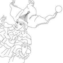 Desenho de um bufão de Veneza para colorir